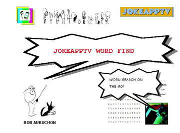 CARTOON FIND WORD SEARCH