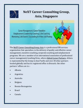 NeXT Career Consulting Group, Asia, Singapore