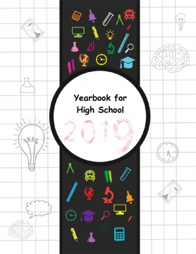 Yearbook Template 8.5x11 - High School