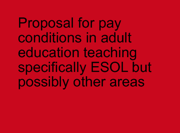 Proposal for pay conditions in teaching