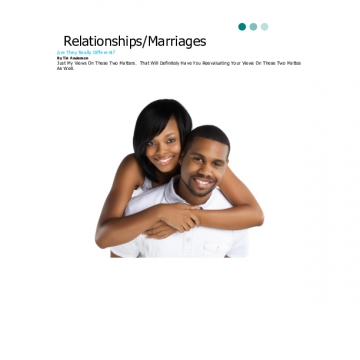 Relationships/Marriages