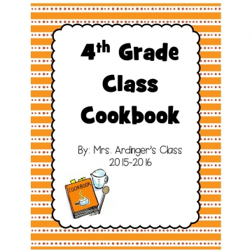 2015-2016 4th Grade Cook Book