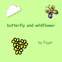 butterfly and wildflower