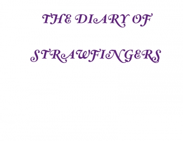 The Diary of Strawfingers