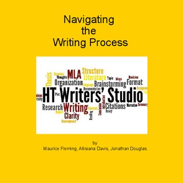Navigating the Writing Process