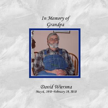 Memories of Grandpa--Softcover