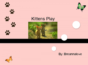 Kittens play