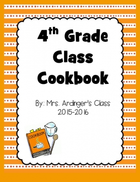4th Grade Cookbook 2015-2016