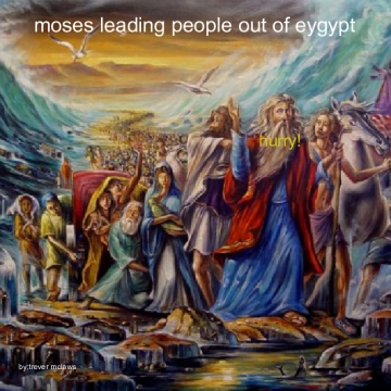 Moses leading people out of eygypt