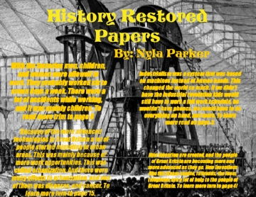 History Restored Papers