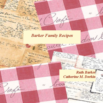 Barker Family Recipes