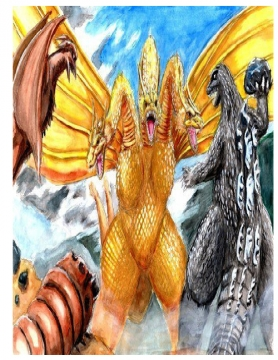 Godzilla,Rodan,Mothra Gardians of the world