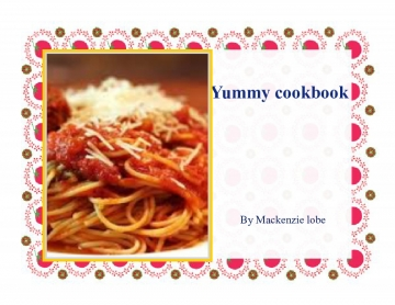 Yummy cook book