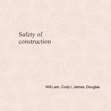 Abcs of safety of construction