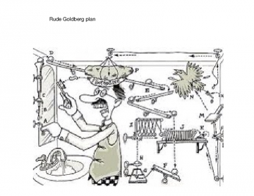 Rube Goldberg plan