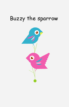 Buzzy the sparrow