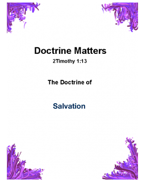 Doctrine Matters - Salvation
