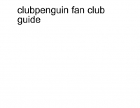 clubpenguin fan club