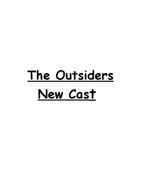 Outsiders Casting Book