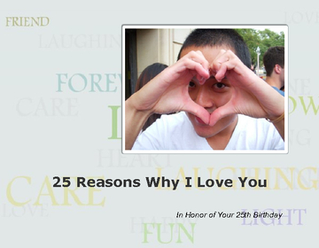 25 Reasons Why I Love You