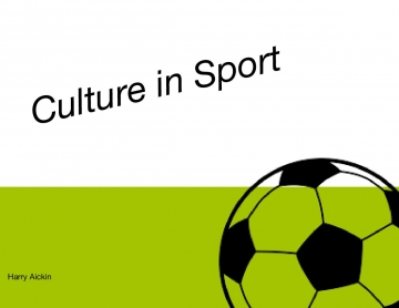 Sport and Culture