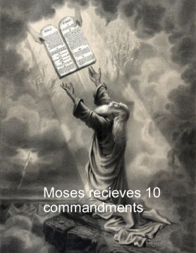 Moses recieving 10 commandments