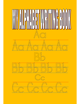 My alphabets writing book