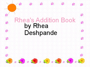 Rhea's Addition Book