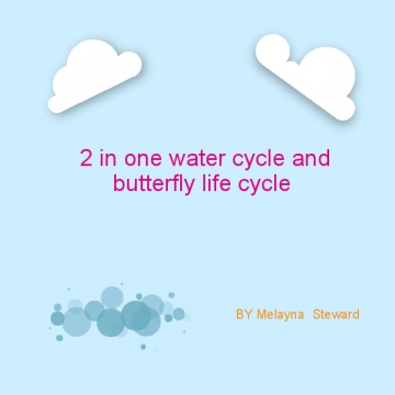 2 in 1 water cycle and life cycle of a butterfly