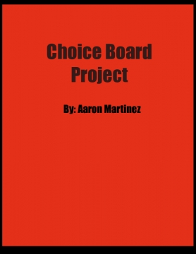 Choice Board Project