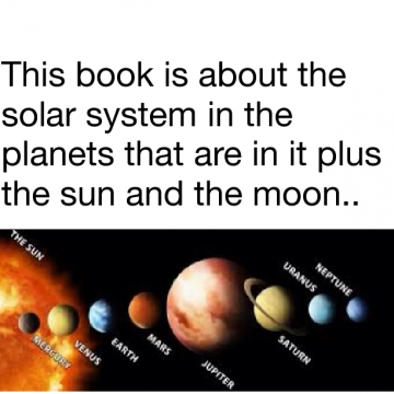 The features of the solar system!