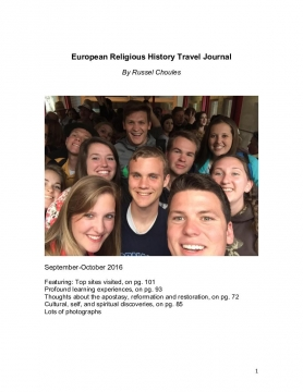 European Religious History Travel Journal