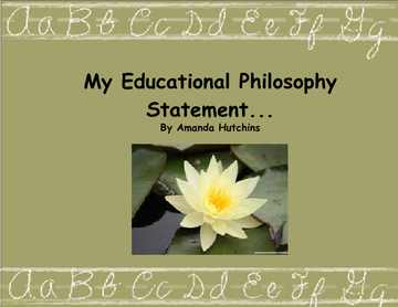 Education Philosophy Statement 2012