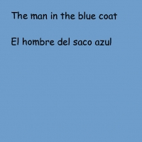 The Man in the blue Coat