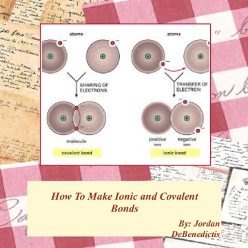 How to make Ionic and Covalent Bonds