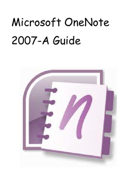 How to Use Microsoft OneNote 2007