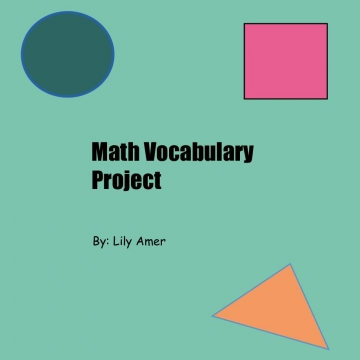 Math Vocabulary Project