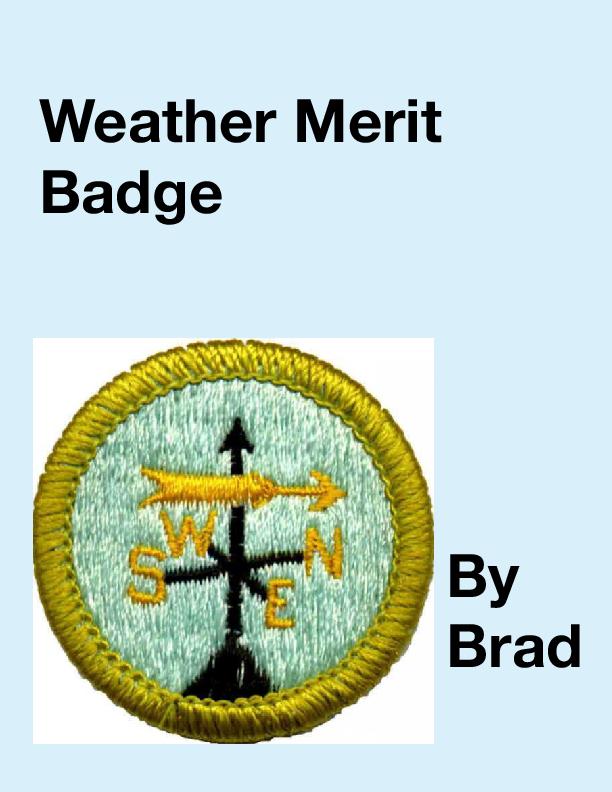 Bookemon Weather Merit Badge   Book 572841