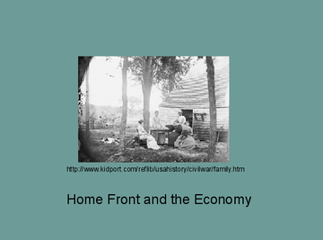 Home Front and the Economy
