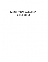 King's View Academy Yearbook 2010-2011