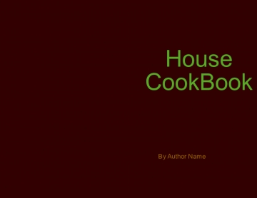 House CookBook