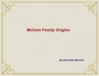 McCain Family Origins