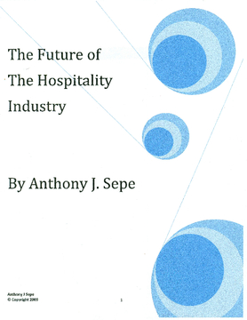 The Future of The Hospitality Industry