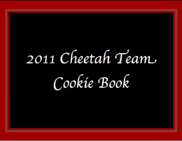 2011 Cheetah Team Cookie Book