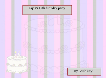 jayla's 10th birthday party