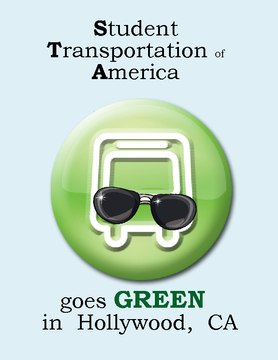 Student Transportation of America goes GREEN in Hollywood, CA.