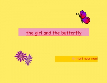 the girl and the butterfly