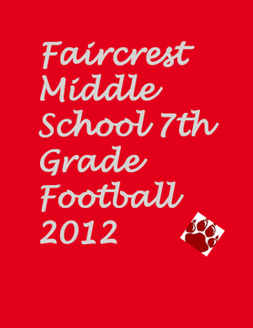 Faircrest Middle School 7th Grade Football 2012