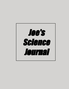 Joe's Science Journal