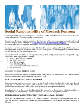 Social Responsibility of Mossack Fonseca